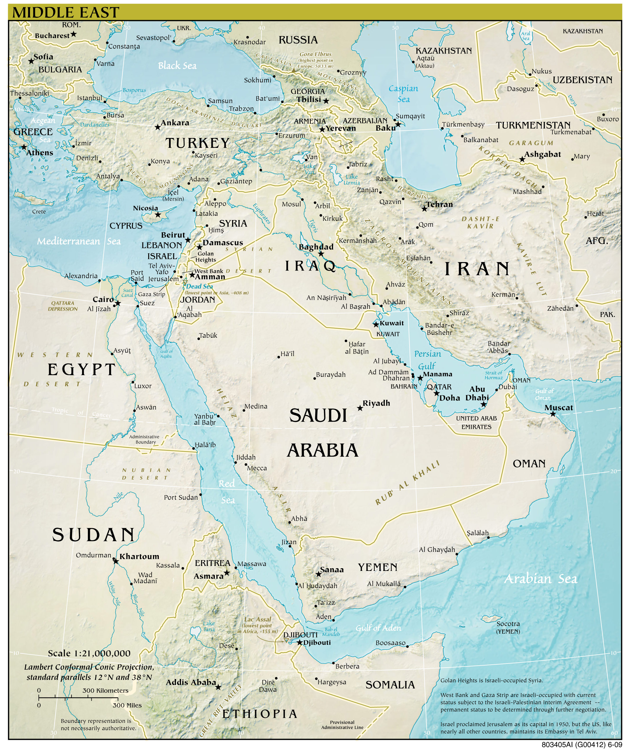 Middle East Map 2012 Mapsofnet