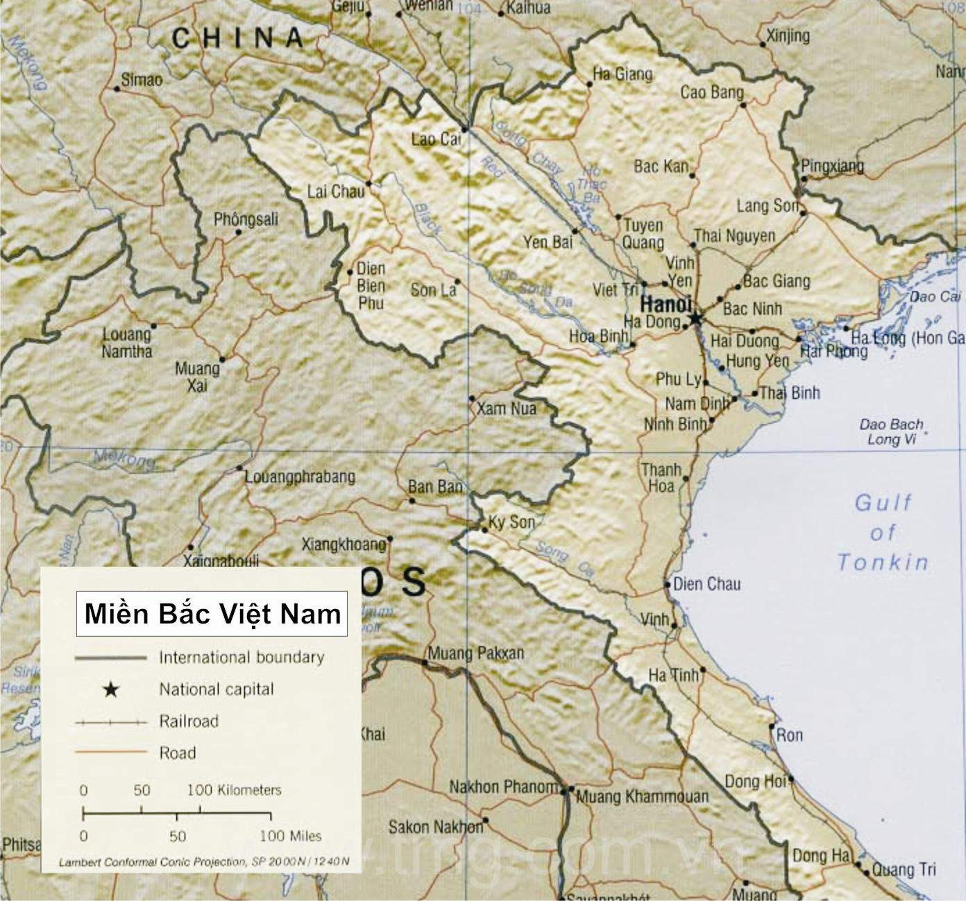 Mien Bac Viet Nam large map