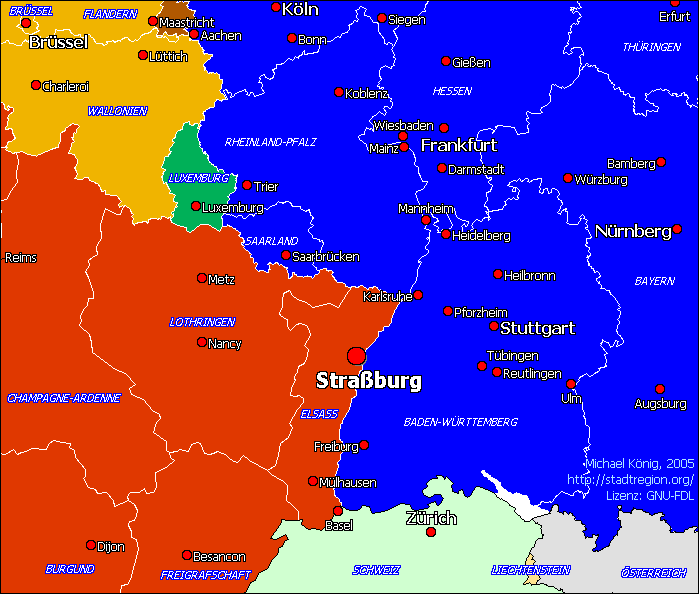 Mk Strassburg large map