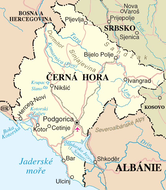 Montenegro Un Cs large map