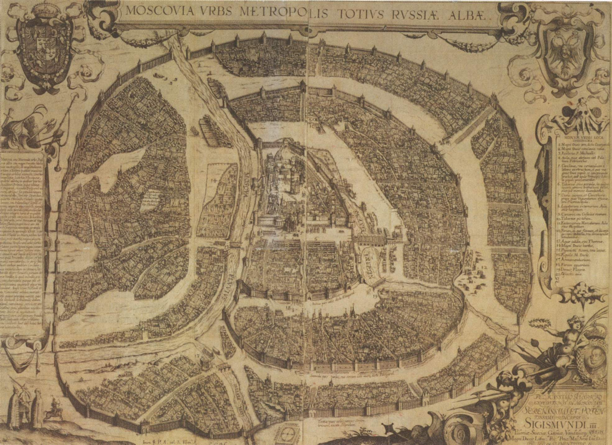 Moscow 1610 large map
