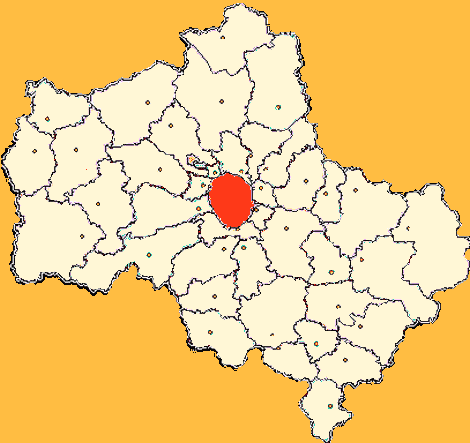 Moscow Oblast Moskva large map