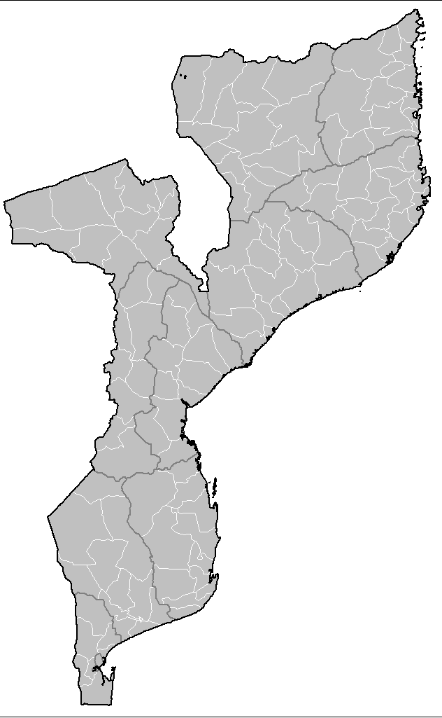 Mozambique Districts large map