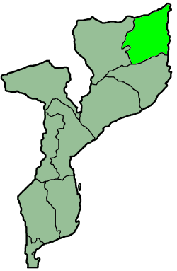 Mozambique Provinces Cabo Delgado 250px large map
