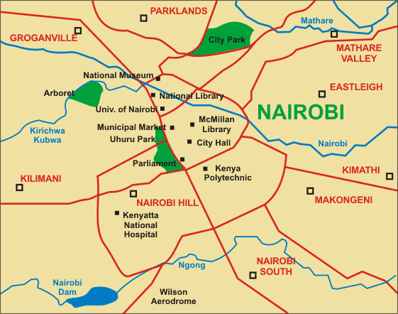 A Map Of Nairobi A Map Of Berlin A Map Of Amsterdam A Map Of - nairobi map