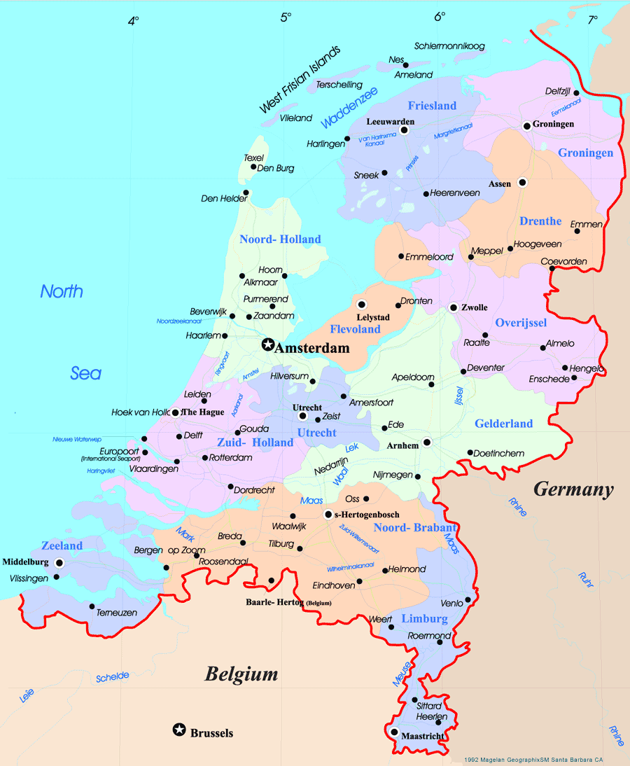 Netherlands Map large map