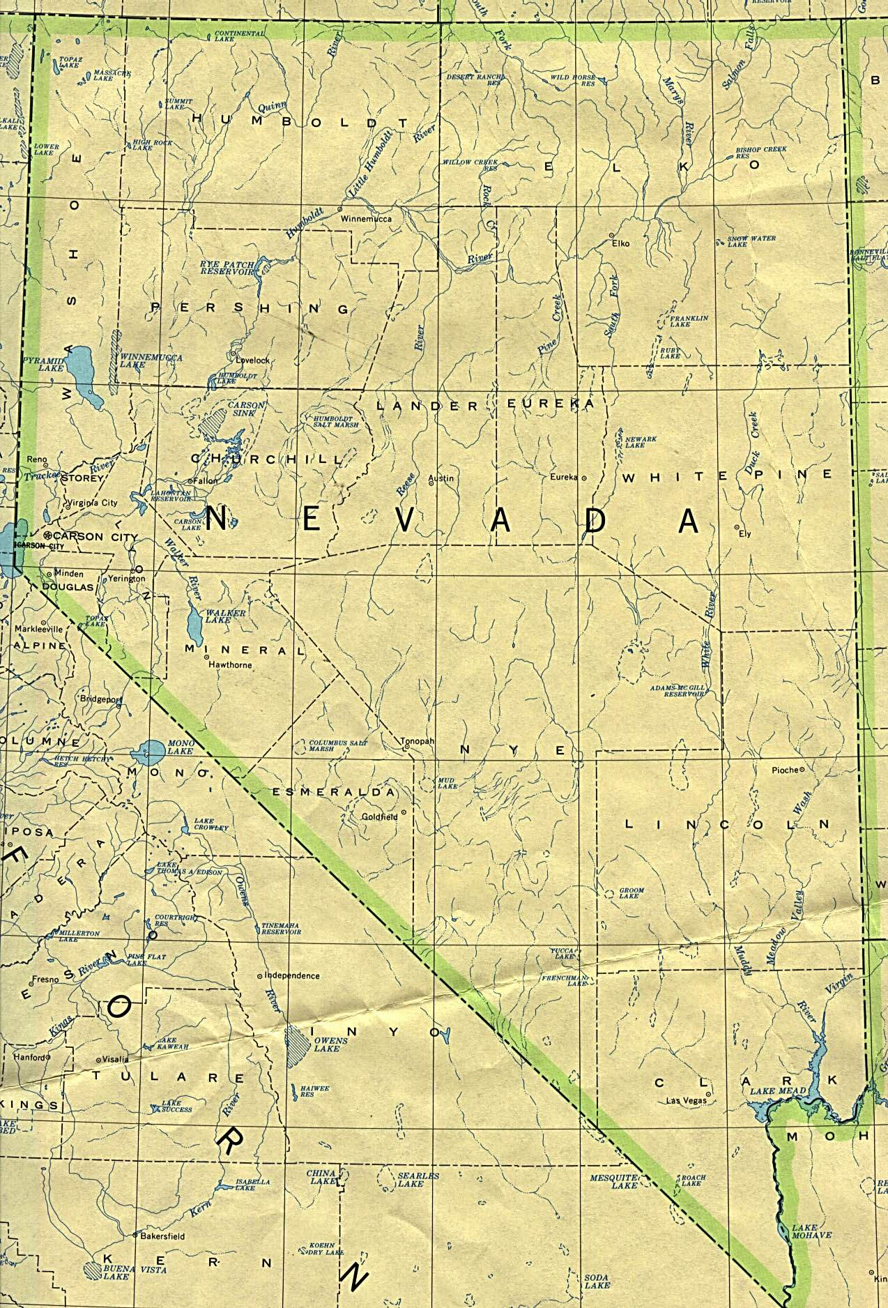 Nevada 90 large map