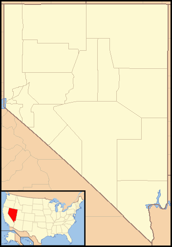 Nevada Locator Map With Us large map