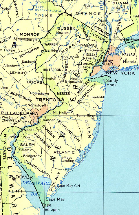 New Jersey Reference Map 90 large map