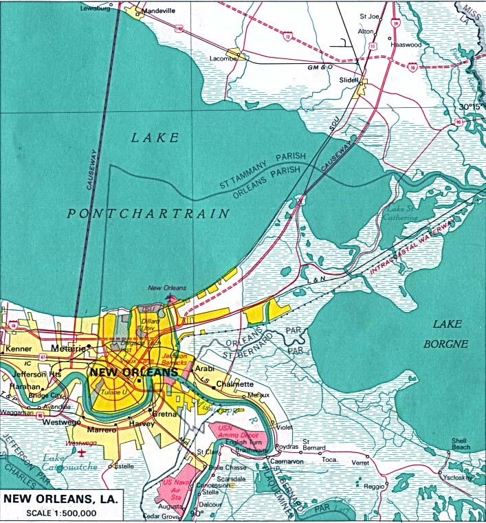 New Orleans City Map  Mapsof