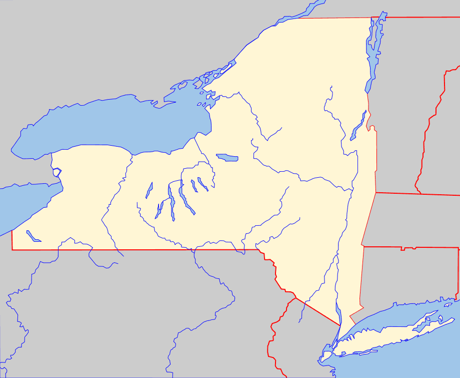Blank New York State Map.Map Of New York State Outline