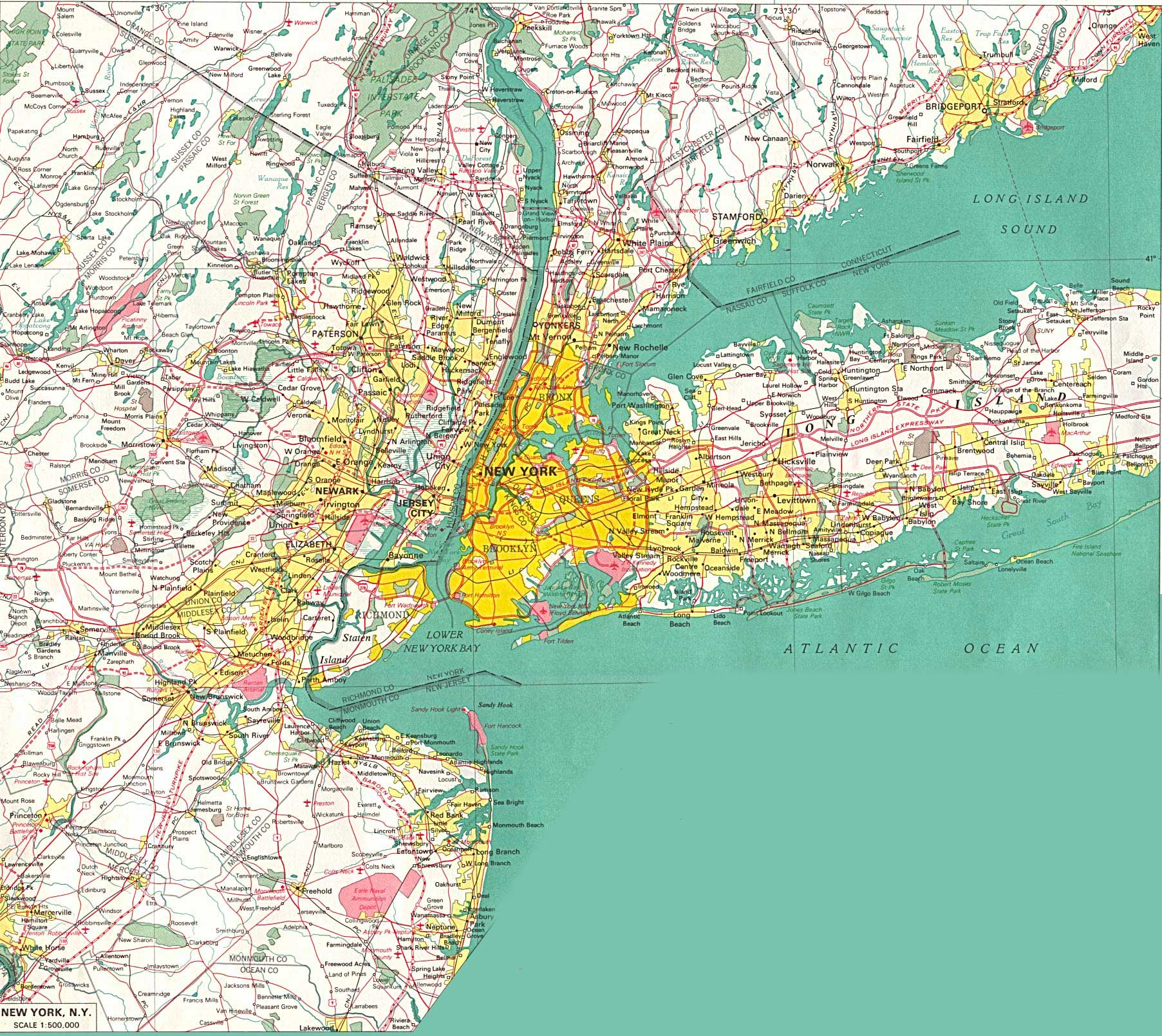 New York City large map
