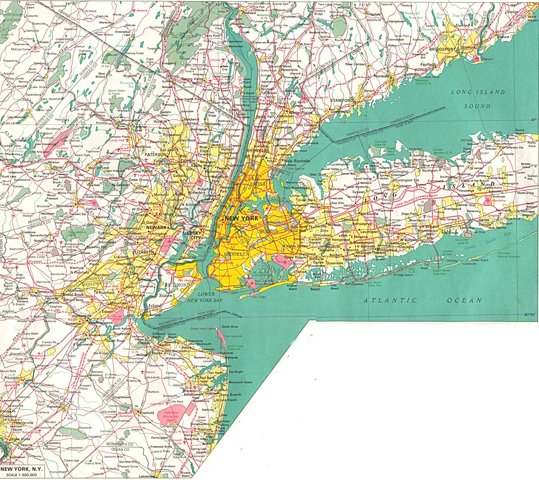 New York City Map 1 large map