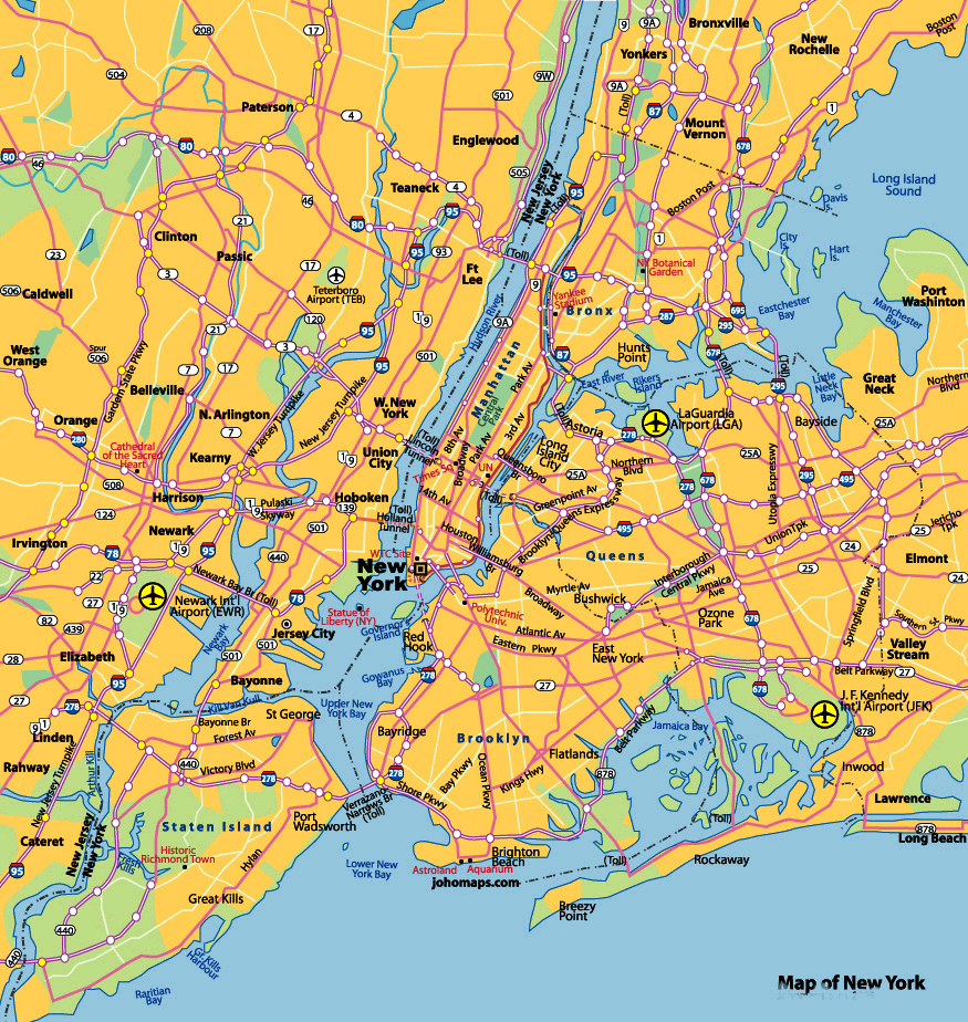 New York City Map large map