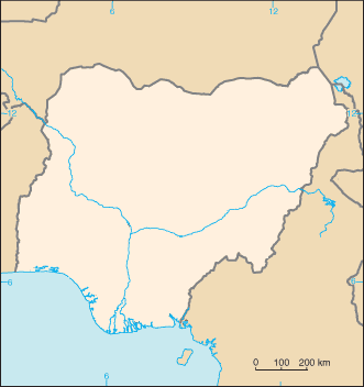 Nigeria Blank Map large map