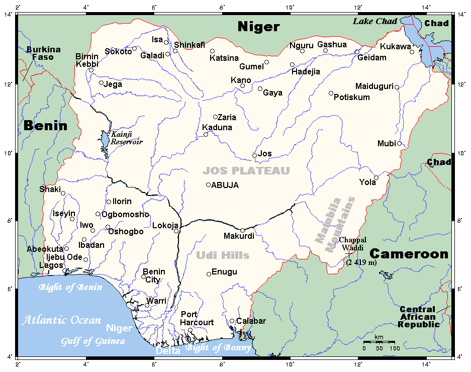 Nigeriamap large map