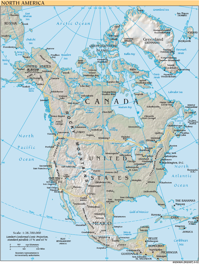 North America large map