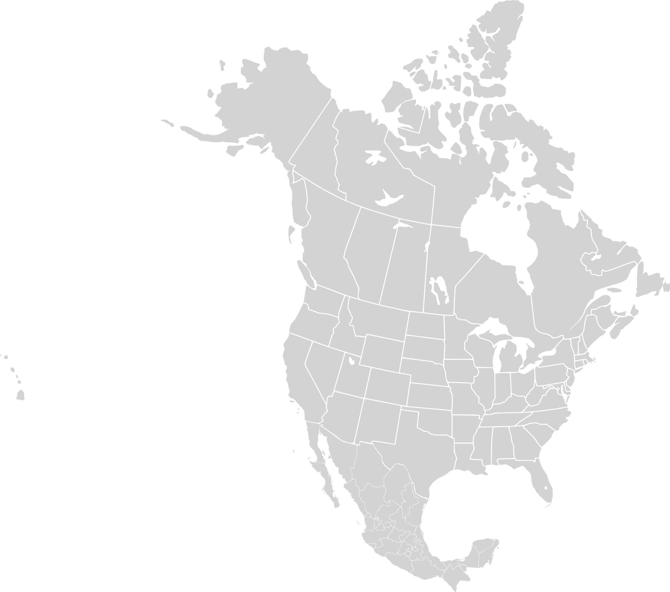North America Blank Range Map Mapsof Net