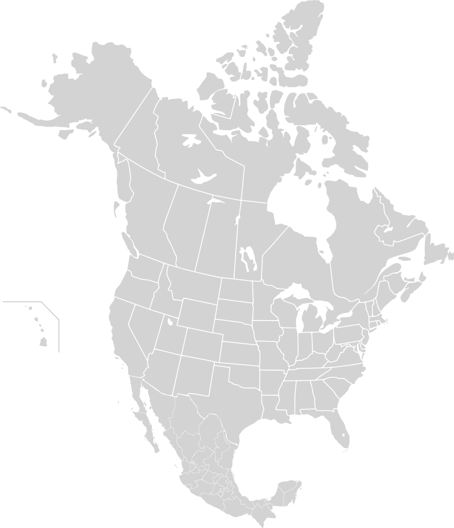 North America Second Level Political Division 2 2 large map