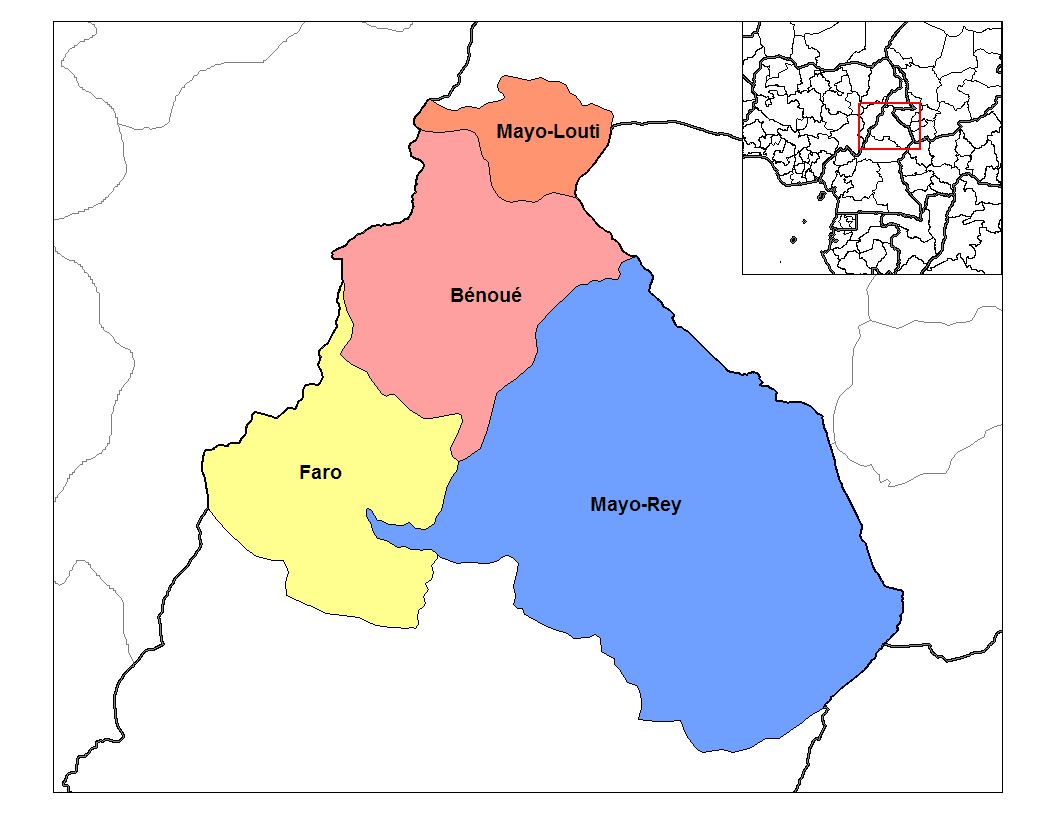North Cameroon Divisions large map