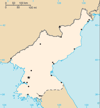 North Korea Map large map
