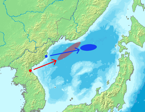 North Korea Missile Launch In 20060705 large map