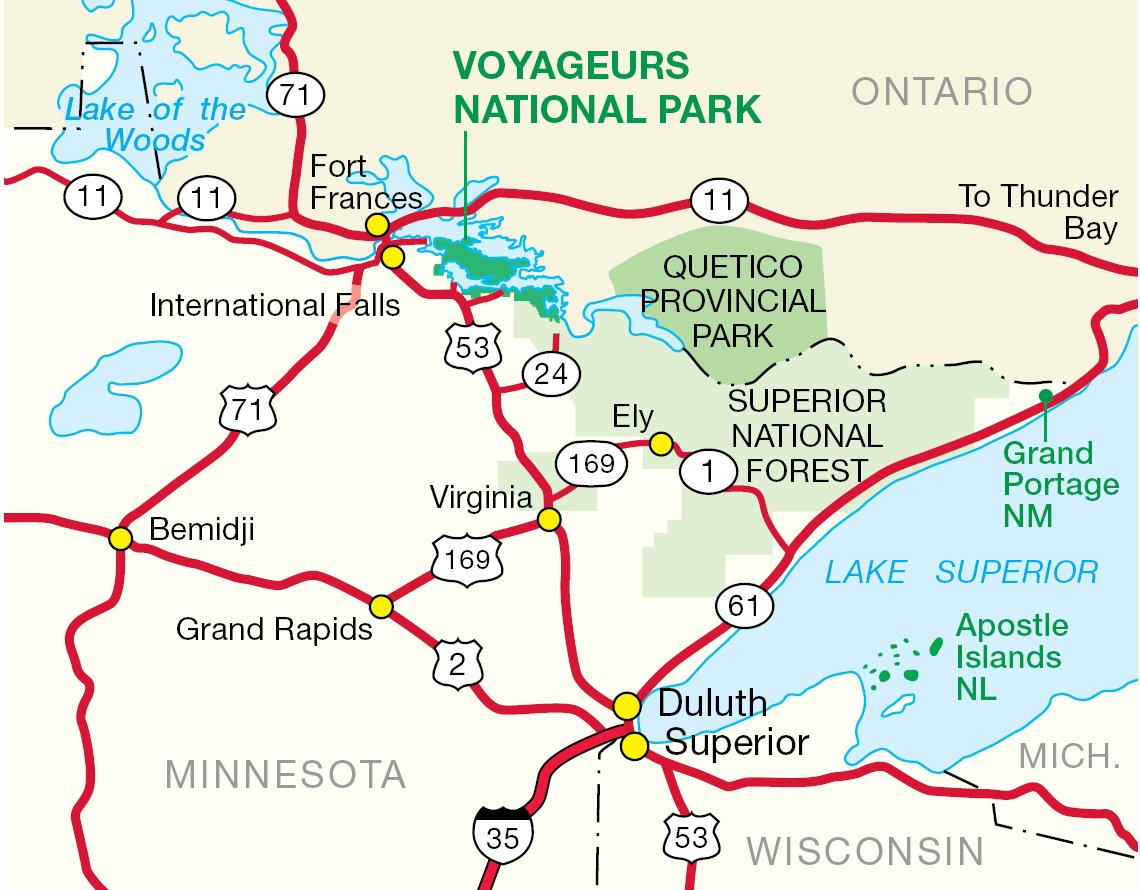 Northern Parks Overview Map  Mapsof