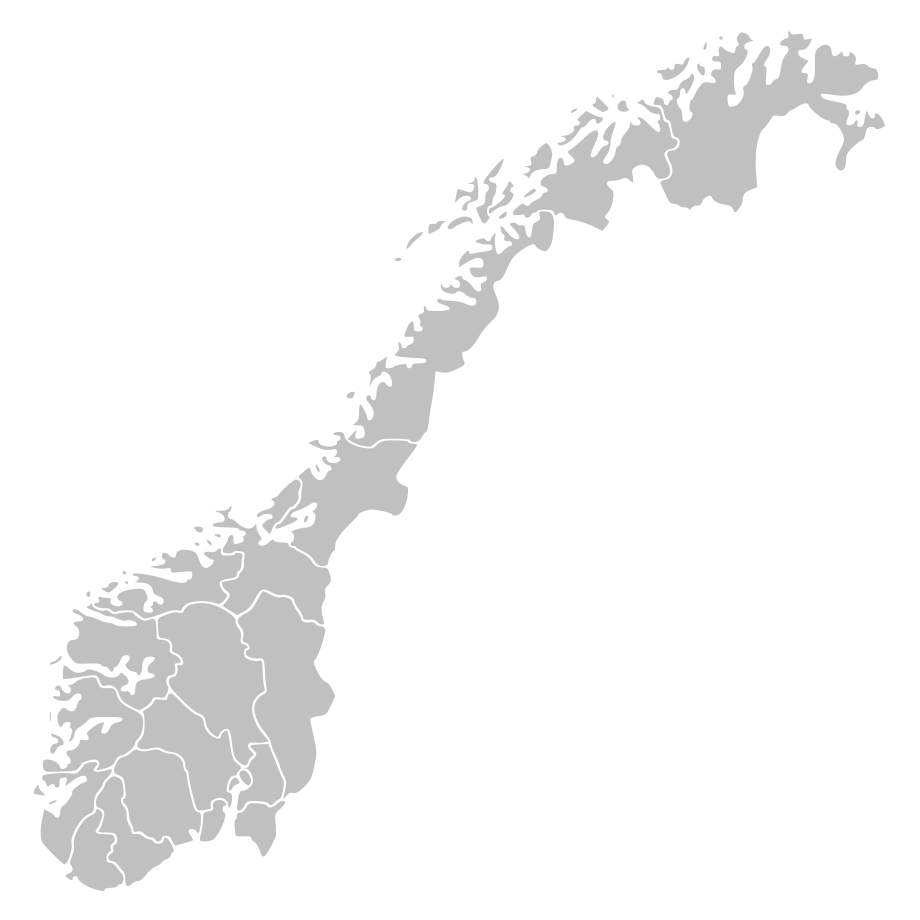Norway Counties Blank large map