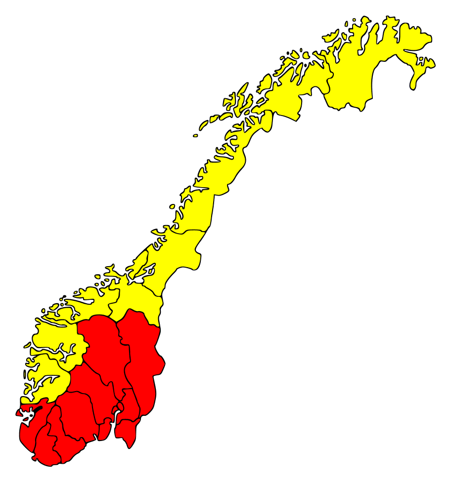 Norway Counties Pultryrestrictions large map