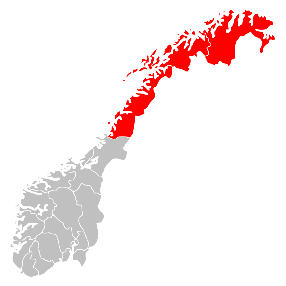 Norway Regions Nord Norge Position - mapsof.