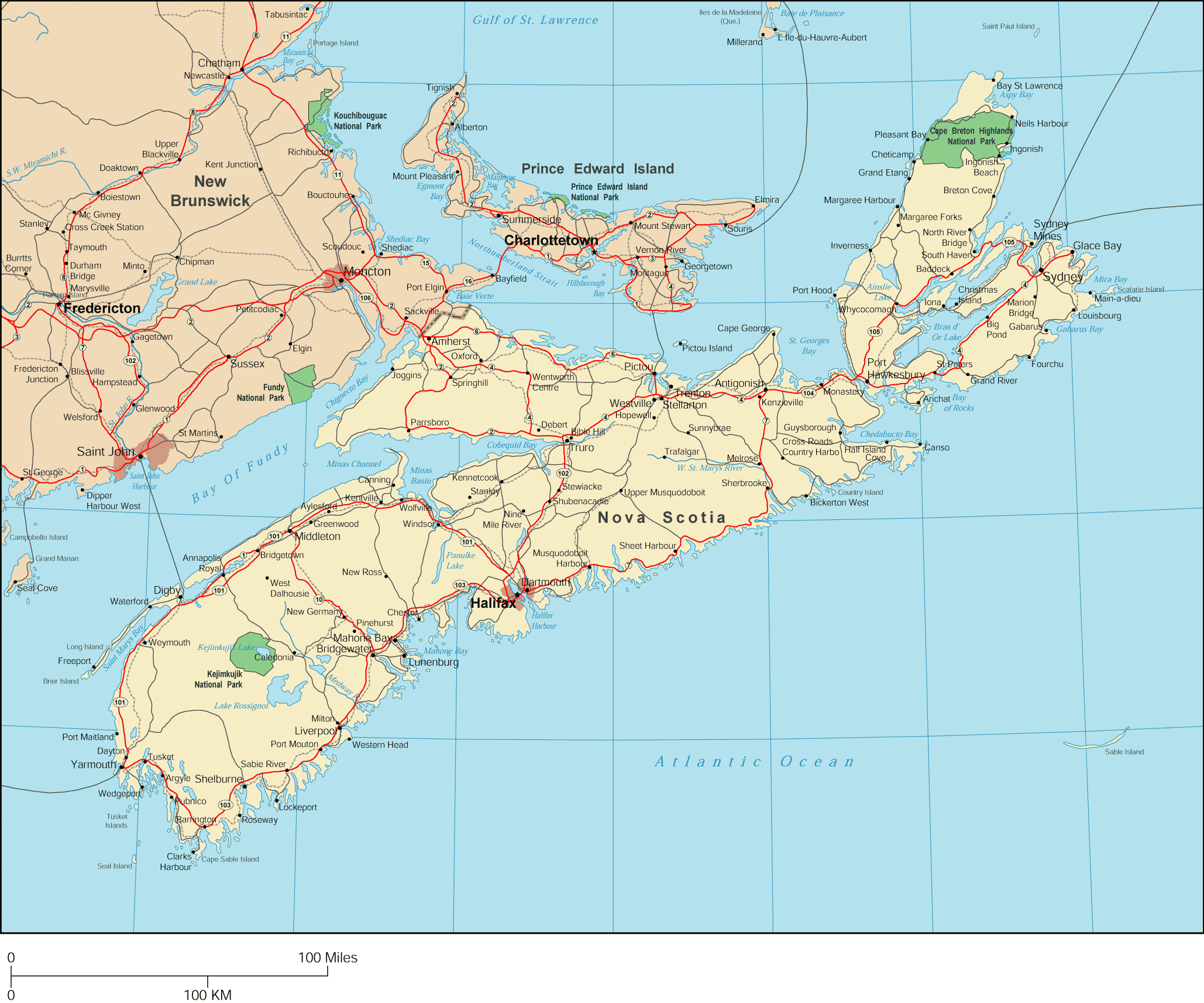 Nova Scotia Map Big large map