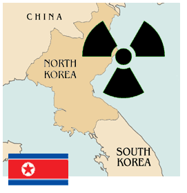 Nuclear North Korea large map