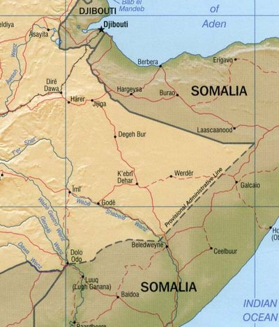Ogaden Map large map