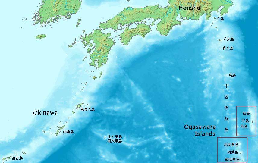Ogasawara Islands large map