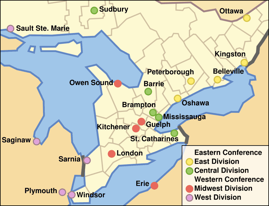 Ohl Team Locations large map