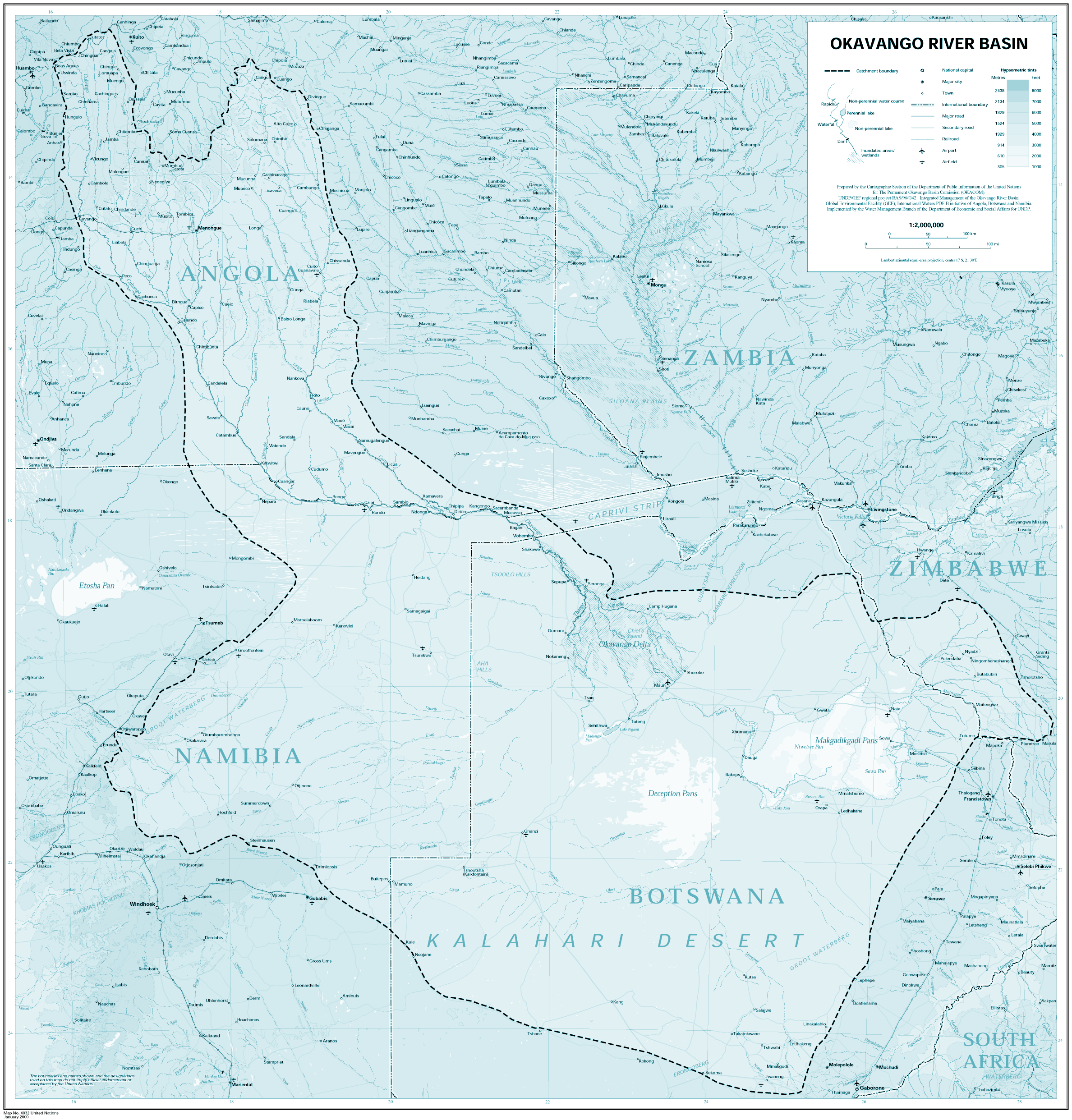 Okavango large map