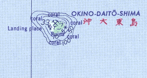 Okidaitojima large map