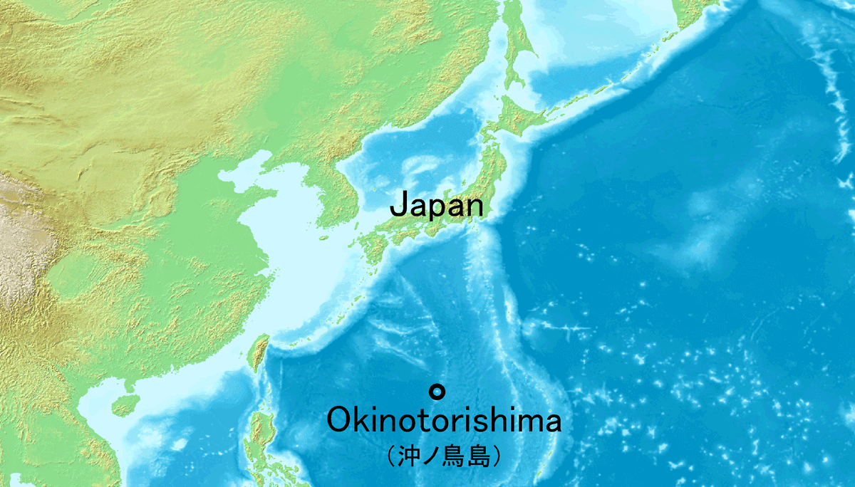 Okinotorishima 1 large map