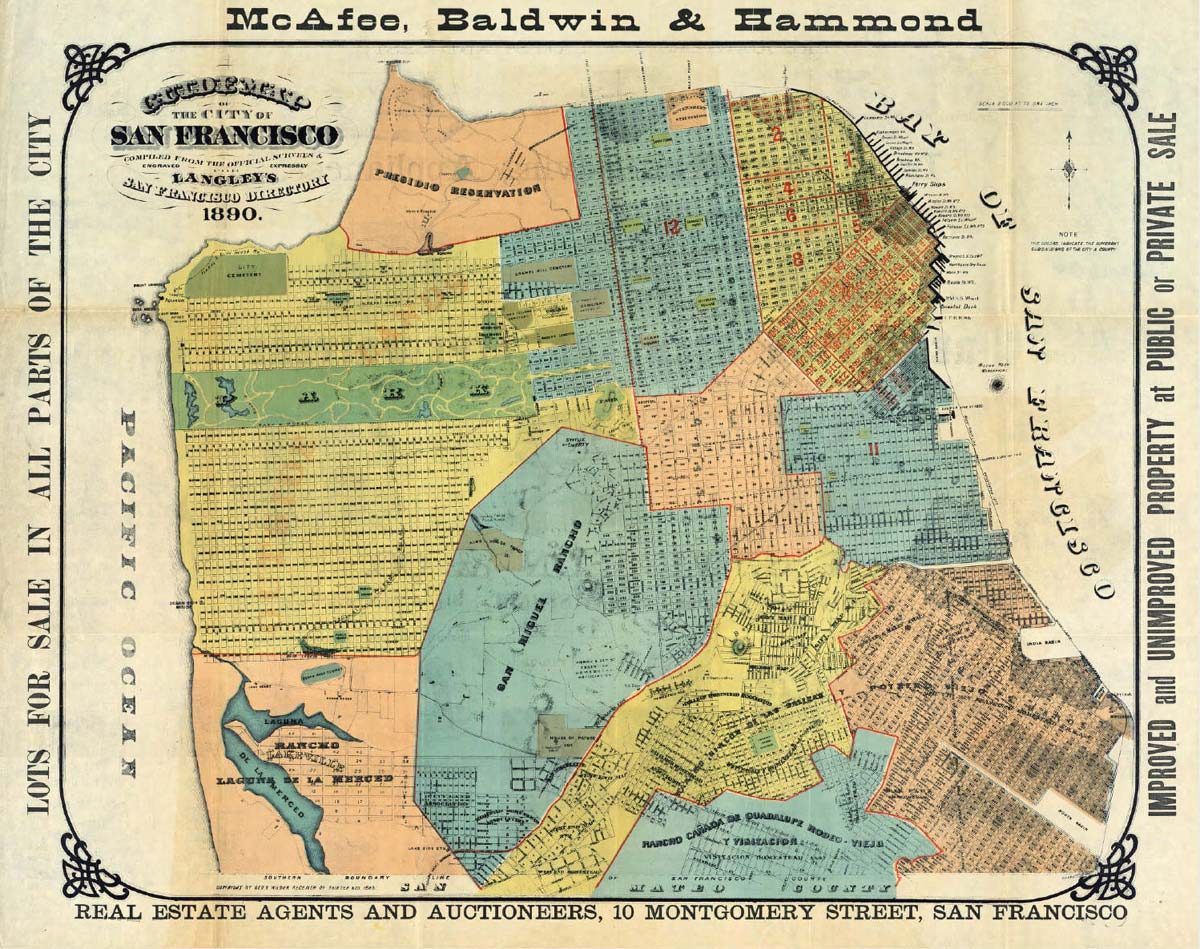 Old Map of San Francisco