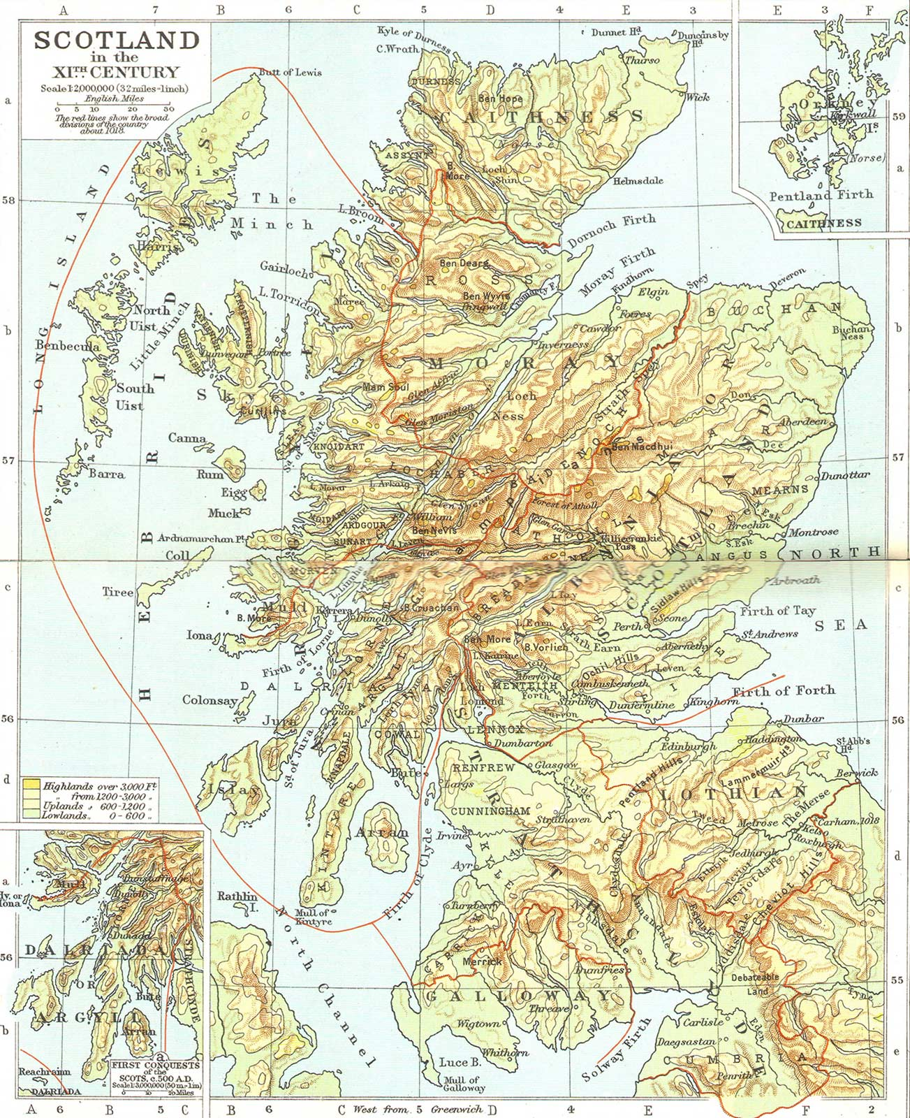 Old Map of Scotland • Mapsof net