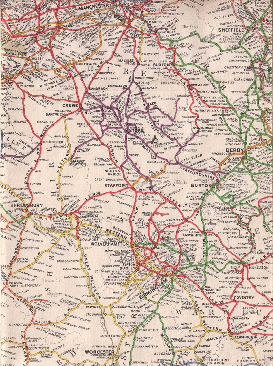 Old Map of West Midlands  Mapsofnet