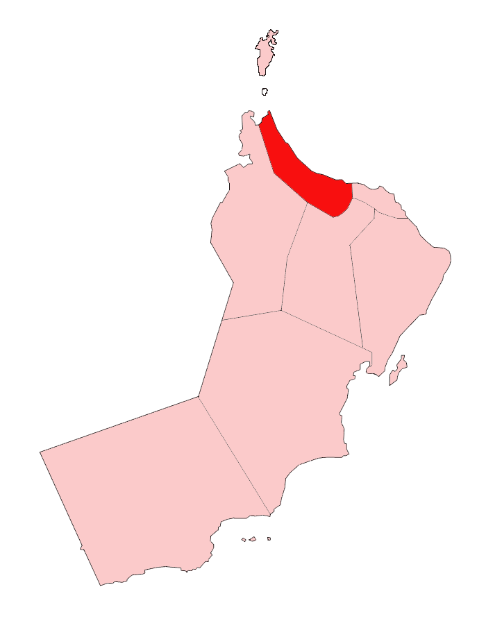 Oman Al Batinah large map
