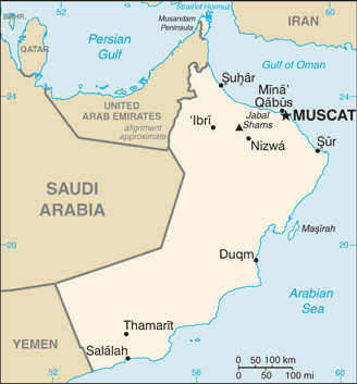 Oman Cia Wfb Map large map