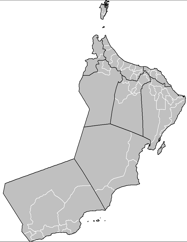 Oman Districts large map