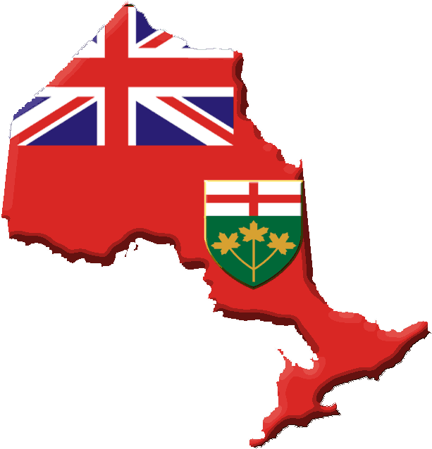 Ontario Flag Contour large map