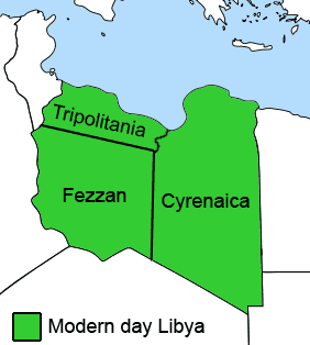 Ottoman Provinces of Present Day Libyapng large map
