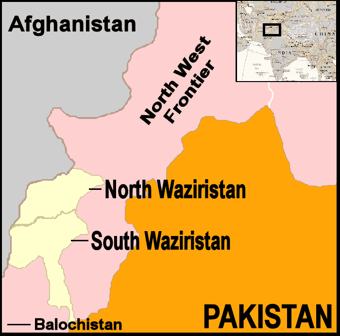 Pakistan waziristan map.png