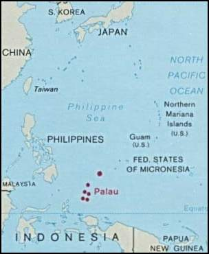 Palau And Oceania large map