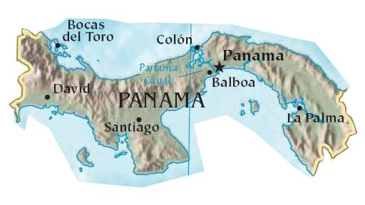 Panama large map