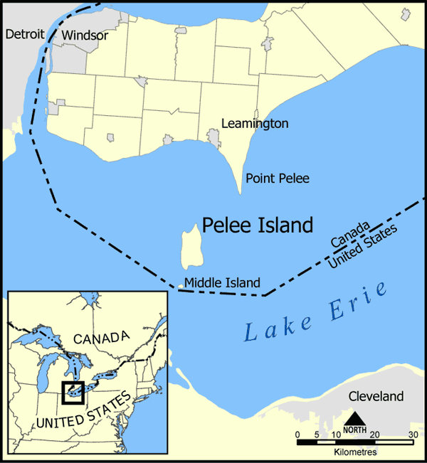 Pelee Island Map large map